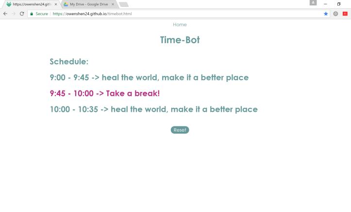 Time-Bot Screenshot 1